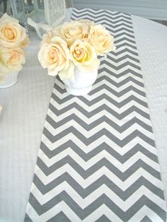 CHEVRON Table Runner 13x72 Wedding Table by simplydivinebyjoann