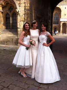 Shot in Castle Square, Bailgate. Pretty Ladies! Gowns from left... Sandy, Louella and Clarissa.