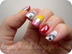 Try My Hand: Back to school nails! cute