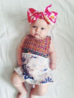Bohemian baby clothes