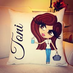 Gorgeous personalised HunniBunni cushion Disney Characters, Fictional Characters, Cushions, Disney Princess, Christmas, Accessories, Art, Throw Pillows, Xmas