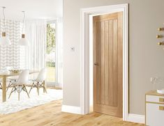Choosing interior doors for the home can be a daunting process. Like many types of wood doors, oak interior doors have many options to choose from. Oak Interior Doors, Internal Doors, Fire Doors, Windows And Doors, Cottage Door, New Homes, Doors Interior, Oak Doors, Wood Doors Interior