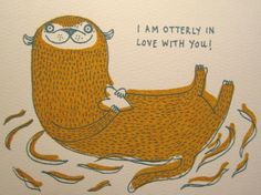"Aww. ""I'm Otterly in love with you!"" so sweet for #valentinesday"