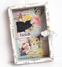old frame shadow box by Tracy929
