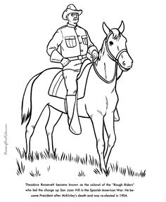 New Coloring Pages Of Presidents 61 Free printable President Theodore