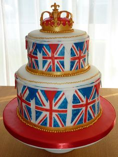Strawberry Lane Cake Company specialises in unique bespoke wedding cakes, celebration cakes and speciality confections Beautiful Cakes, Amazing Cakes, Union Jack Cake, British Themed Parties, British Cake, Lane Cake, French Cake, London Cake, Creative Cakes