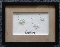 Fish Hawaiian Sea Glass Shadow Box by Wendywen74 on Etsy, $60.00