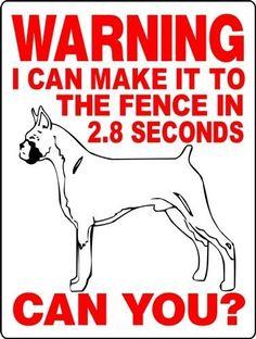 "BOXER  ALUMINUM SIGN GUARD DOG WARNING 9/"" X 12/"" V3076"