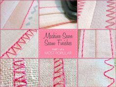 Machine Sewn Seam Finishes - Really great information about finishing seams.
