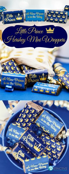 Hear ye, hear ye! Celebrate like royalty to honor the parents-to-be and Little Prince on the way with these candy sticker wrappers.