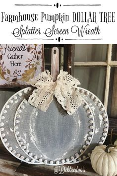 When the Dollar Tree sells out of splatter screens, you know this is a brilliant and fun idea. How to make a Pumpkin Splatter Screen Wreath. Dollar Tree Pumpkins, Dollar Tree Fall, Dollar Tree Decor, Dollar Tree Crafts, Dollar Tree Cricut, Thanksgiving Crafts, Fall Crafts, Diy Crafts For Kids, Craft Ideas