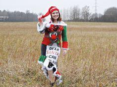 Ruma joulupaitamekko - Käsityöblogien joulukalenteri 2020 - VillaNanna Dear Santa, Refashion, Christmas Sweaters, Christmas Jumper Dress, Tacky Sweater