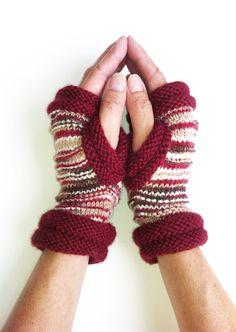 Fingerless Mittens Hipster Mitts  Womens Mittens Hand by LizSox