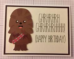 Disney Star Wars Chewbacca birthday card