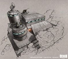 "Fantastic Concept Art from the ""Moon Nazi"" Movie Iron Sky"
