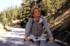 CITY OF ANGELS, Meg Ryan, 1998, bicycle  I certainly won't be as stupid as her in the movie.