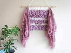 Woven Wall Hanging // Hand woven in White and by LoveOfSweeties