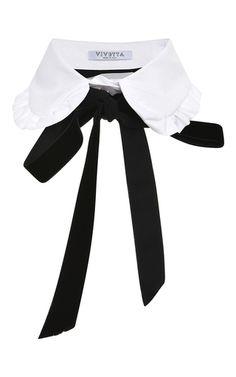 White Campanula Collar by VIVETTA for Preorder on Moda Operandi