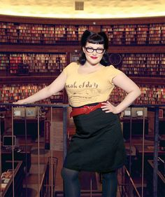 Swedish librarians looking fab! Via Vice Librarian Style, Sexy Librarian, Uk Fashion, Fashion Looks, Pin Up Style, My Style, Looks Great, What To Wear, High Waisted Skirt