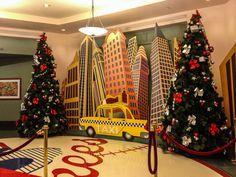 Disneyland Paris Hotel New York at Christmas