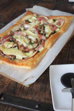 Recept plaattaart met brie appel spek en courgette foodblog Foodinista