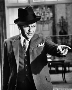 Frank Sinatra's Style Almost Distracts Us From His Bad-Boy Image.  :-)