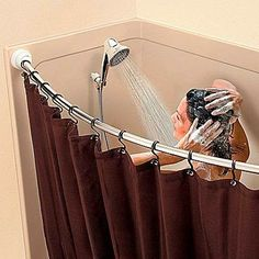 curtain ideas curved shower curtain rod no screws