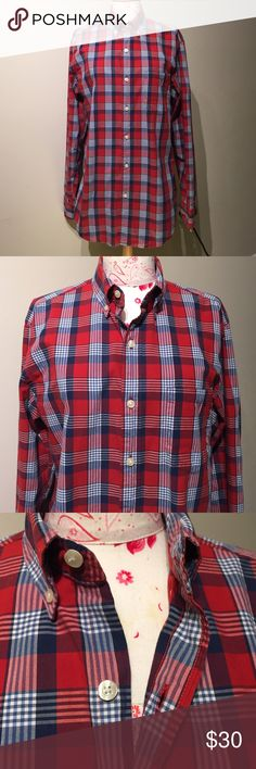J Crew plaid button down Men's quality woven shirt size small. Worn once, excellent condition! J. Crew Shirts Casual Button Down Shirts