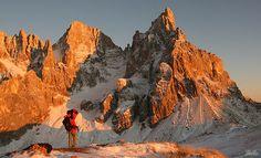 Trentino - Passo Rolle, il Cimon della Pala al Tramonto - I Suoni delle Dolomiti.