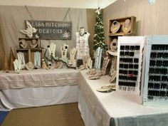 Vintage jewelry display small space at show