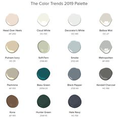 This paint color palette from Benjamin Moore is so gorgeous! #paintcolors #interiordesign #homedecor