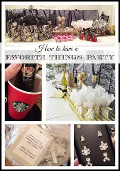 "How to throw a ""Favorite Things"" party and easy girlfriend/teacher/neighbor gift ideas {holiday girls night out idea} 