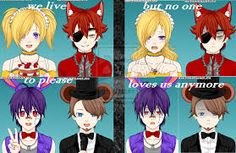five nights at freddy's characters as humans - Google Search