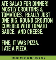 Salad+/-pizza