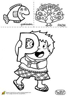 Lettre P Poisson Paon, page 16 sur 26 sur HugoLescargot.com