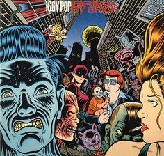 Best Album Cover Ever.  Art work by Charles Burns.  Iggy Pop Brick by Brick.