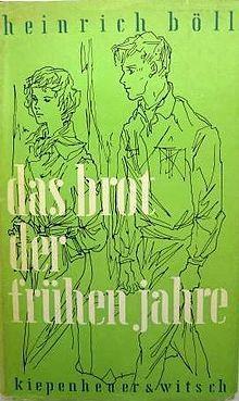 The Bread of Those Early Years (German: Das Brot der frühen Jahre) is a 1955 novel by the West German writer Heinrich Böll. It was adapted into a 1962 film with the same title.