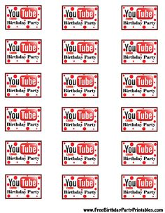 www.freebirthdaypartyprintables.com resources Youtube%20Birthday%20Party%20Cupcake%20Toppers%20Printable%20Free%20Printables%20PNG.png