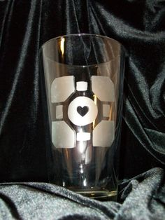 Companion Cube Glass Etching