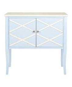 Another great find on #zulily! Light Blue & White Jolie Sideboard by Safavieh #zulilyfinds