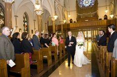 Washington DC Wedding Catholic Ceremony 550x366 Modern Meets Vintage Wedding Ceremony in Washington DC: Jessica + Ian