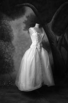 Robe de mariée princesse taffeta soie organza