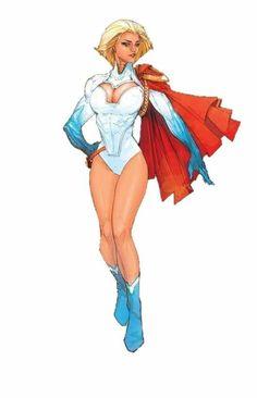 Powergirl by Kenneth Rocafort Dc Comics Girls, Dc Comics Art, Marvel Girls, Comic Book Girl, Comic Books Art, Comic Art, Superhero Images, Superhero Design, Art Anime