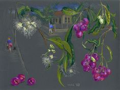 Susan Dorothea White Picking Lilli Pillis, Piper St, Annandale 2010 goldpoint & pastel on silicon carbide paper 21 x 28 cm by © Susan Dorothea White Landscapes, Pastel, Artist, Painting, Paisajes, Scenery, Cake, Artists, Painting Art