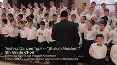 Yeshiva Darchei Torah Choir - Shalom Aleichem - jan de 2014 Music video of Benny Friedman's Shalom Aleichem, performed by the Yeshiva Darechi Torah Boys Choir. (5th Grade) Directed by Rabbi Yisroel Kleinman, The video was produced by Skyline Music & Kol Rom Media. The song was originally produced by Avi Newmark, arranged by Ian Freitor, and composed by Ari Goldwag.