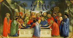 ANGELICO, FRA Vicchio di Mugello, Florencia, 1395 – Roma Dormition of the Virgin c. 1425. Tempera and tooled gold on panel with horizontal grain. 26 x 52,9 cm. Philadelphia Museum of Art, Philadelphia. 15.