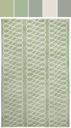 Loop Rug in Sage Ivory Designed By Capel Rugs via Stylyze
