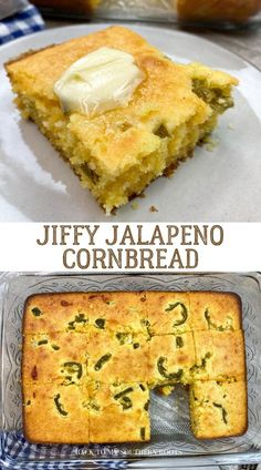 Jiffy jalapeño cornbread is a super easy side dish to make, is rich with flavor between the combination of cheddar cheese and jalapeños, and stays moist with sour cream.
