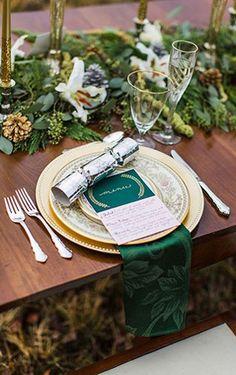 Изумрудная сказка: 50 свадебных фотоидей, сервировка стола - The-wedding.ru