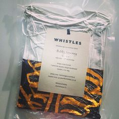 London fashion week invitations in vacuum packed packaging